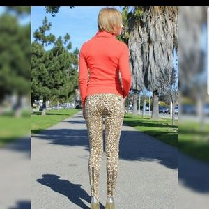 7 for all mankind cheetah print zip ankle jeans 27